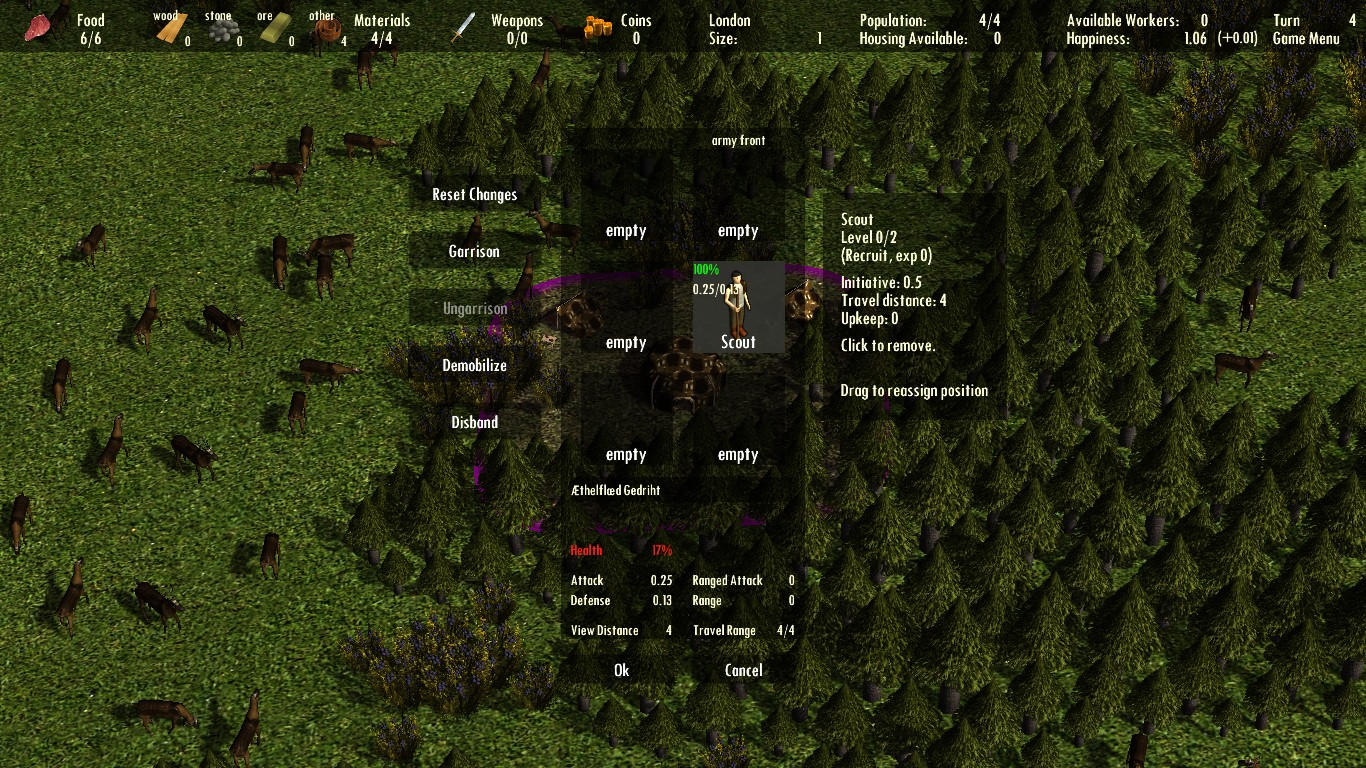 Large screenshot 2 (Army Menu)