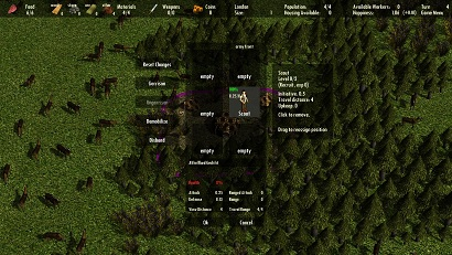 Screenshot 2 (Army Menu)