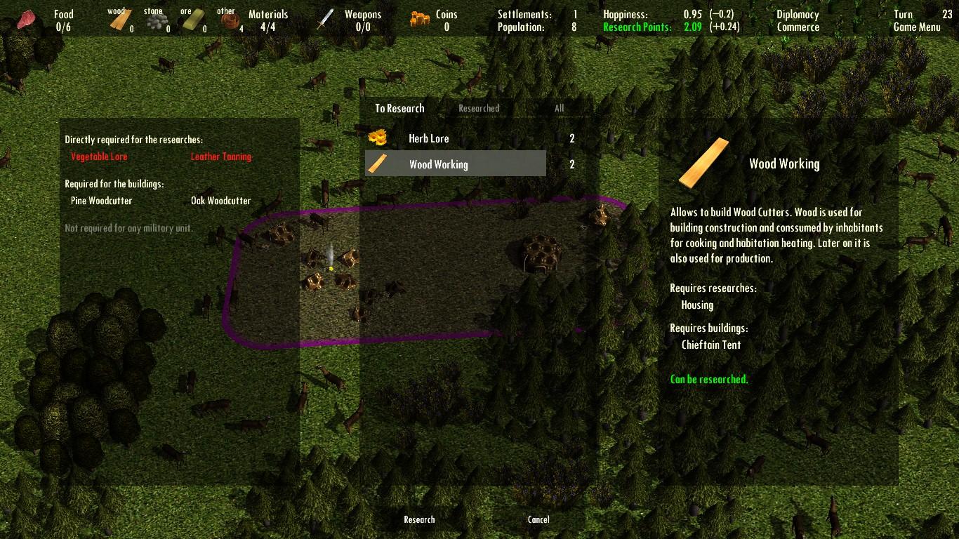 Large screenshot 3 (Research Menu)
