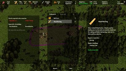 Screenshot 3 (Research Menu)