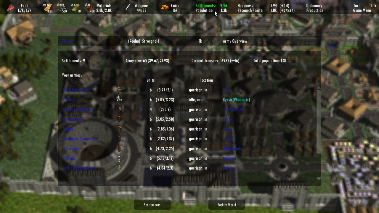 Large screenshot 16 (Army Overview)
